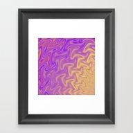 Ripples Fractal In Tropi… Framed Art Print