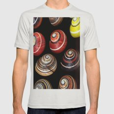 Polymita Cuban Snail Mens Fitted Tee Silver SMALL