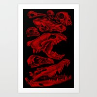 Carnivores in Red Art Print