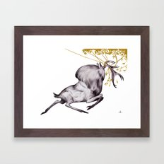 The Stag & His Reflectio… Framed Art Print