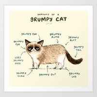 Anatomy Of A Grumpy Kitt… Art Print