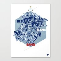 Bleu Blanc Sang Canvas Print