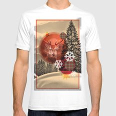 Christmas scene. SMALL White Mens Fitted Tee