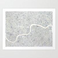 City Map London Watercol… Art Print