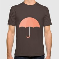 #71 Umbrella Mens Fitted Tee Brown SMALL