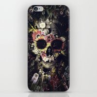 Garden Skull iPhone & iPod Skin