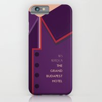 iPhone & iPod Case featuring Wes Anderson's Grand Budapest Hotel - Minimal Movie Poster by Stefanoreves