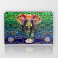 Laptop & iPad Skin featuring Wandering Elephant by Waelad Akadan