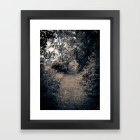 A Path Framed Art Print