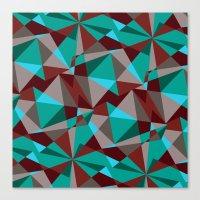 Triangle cubes Canvas Print