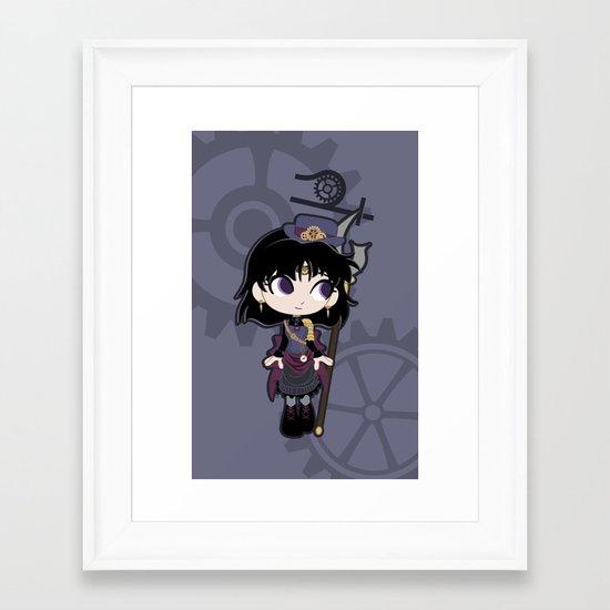 Steampunk Sailor Saturn - Sailor Moon Framed Art Print