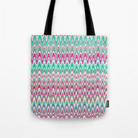 Making Waves Pink and Preppy Tote Bag