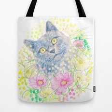 Dreamy Chartreux Cat Tote Bag