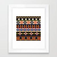 Colourful Tribal Aztec P… Framed Art Print