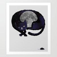 Feline Nocturnus Art Print