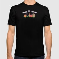 I hate vegans Mens Fitted Tee Black SMALL