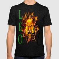 Leo Mens Fitted Tee Tri-Black SMALL