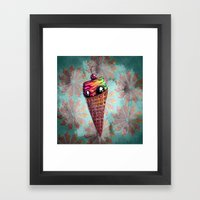 With A Cherry On Top Framed Art Print