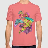 Pizza Eating Pizza - Blu… Mens Fitted Tee Pomegranate SMALL