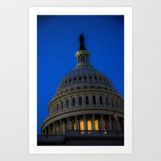 Evening behind the dome Art Print