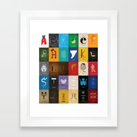 Meagan's Movie Alphabet Set One Framed Art Print