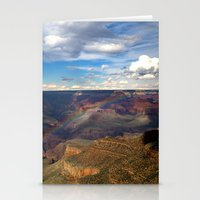 Grand Canyon National Park - Rainbow at South Rim Stationery Cards