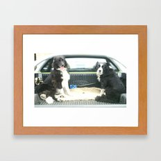 Two Dogs & a Ute Framed Art Print