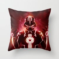Tron Vader Red Throw Pillow