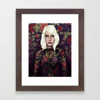 Young Girl and Flowers (Emma Roberts) Framed Art Print