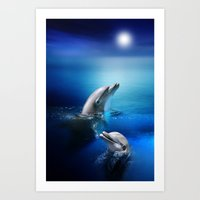 Dolphin Delight Art Print