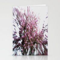 Abstract Pink Flowers 2 Stationery Cards