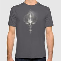 Spiral Lamp Mens Fitted Tee Asphalt SMALL
