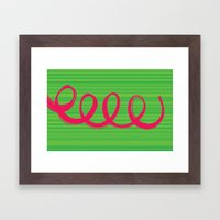 Curly Hair Framed Art Print