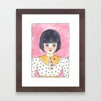 Pink Brooch Framed Art Print