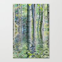 SERENE GREEN SCENE Canvas Print