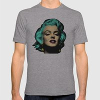 MARILYN BLUE Mens Fitted Tee Athletic Grey SMALL