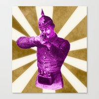 Pink Soldier Canvas Print