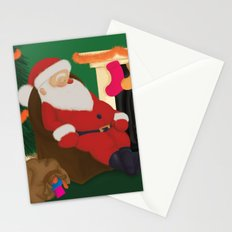 Sleeping Santa Stationery Cards