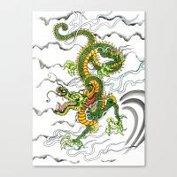 Japanese Dragon Tattoo Canvas Print