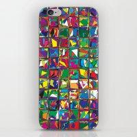 Stacks Geometric Art Print. iPhone & iPod Skin