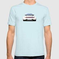 1974 Porsche 911 RSR 3.0 Carrera Mens Fitted Tee Light Blue SMALL