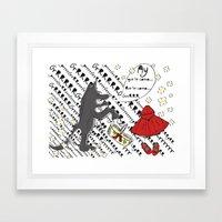 Little Red Riding Hood by Piarei Framed Art Print