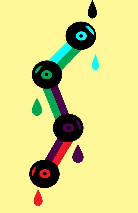 Drops Of Sound Art Print
