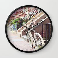 Bike Alongside Stoops In… Wall Clock