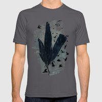 Mixed Feathers Mens Fitted Tee Asphalt SMALL