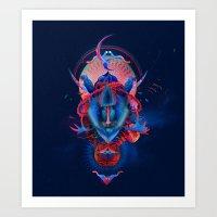 Blue gibbon Art Print