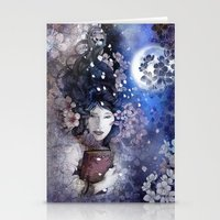 Amidst The Blossoms Stationery Cards