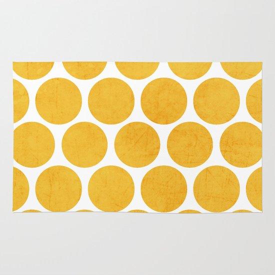 yellow polka dots Area & Throw Rug