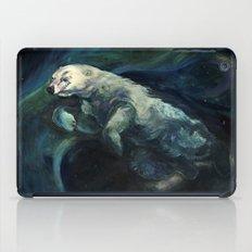 Polar Bear Swimming in Northern Lights iPad Case