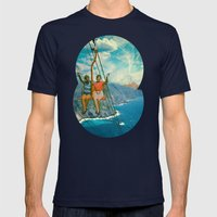The Lift Mens Fitted Tee Navy SMALL